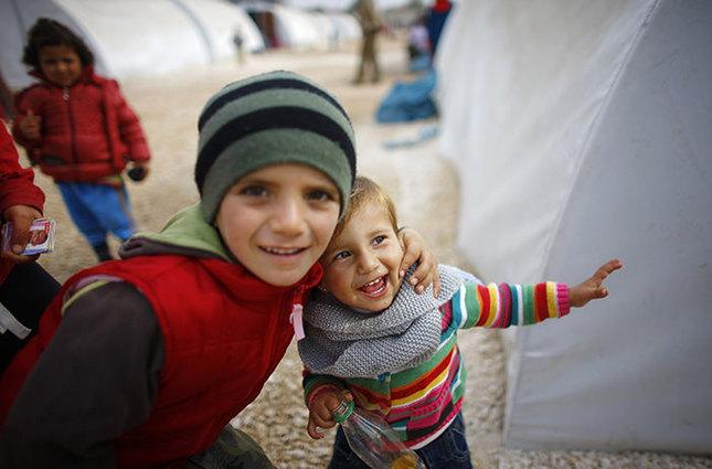 Kurdish refugee children