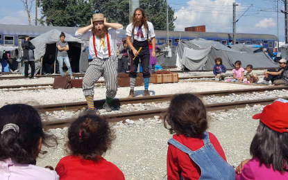 The clowns bringing laughter to refugee camps: 'Happiness matters like food'