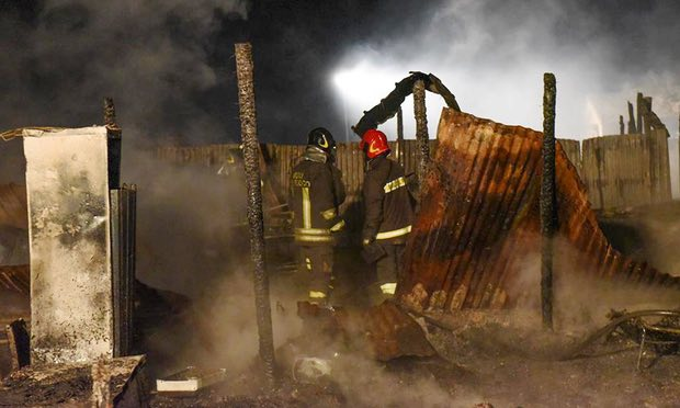 Two Malian refugees die in fire at farm workers' camp in Italy
