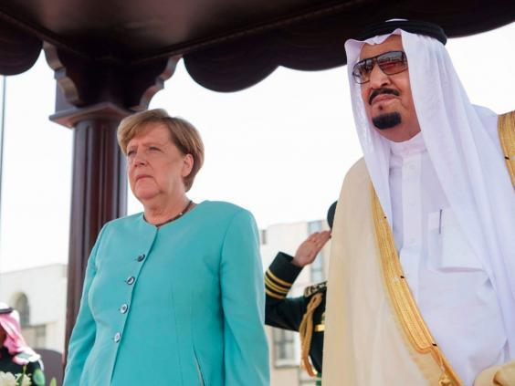 Germany's Merkel to press Saudi Arabia on refugees' rights