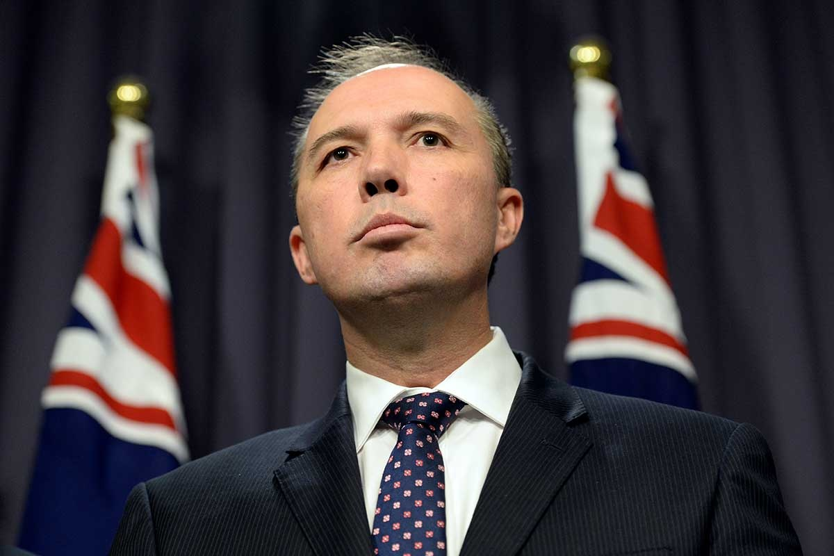 Dutton says 'the game's up' for fake refugees