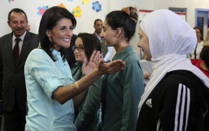 Nikki Haley visits refugee camp, reaffirms Trump's message