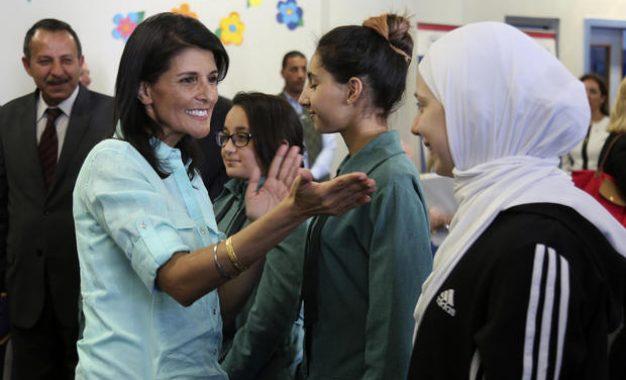Nikki Haley visits refugee camp, reaffirms Trump's message