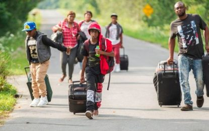 Canada military builds refugee camp for refugees from US