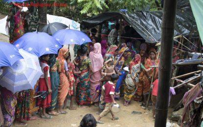 Little girl waiting in The line – Rohingya Refugees in Bangladesh