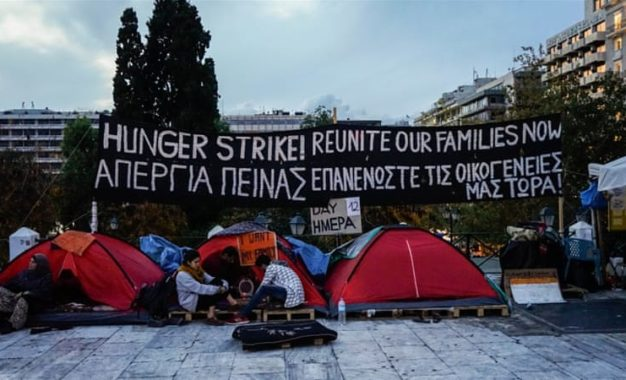 Syrian refugees in Athens hunger strike for relocation