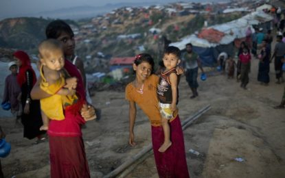 Theresa May condemns 'what looks like ethnic cleansing' of Muslim refugees in Myanmar