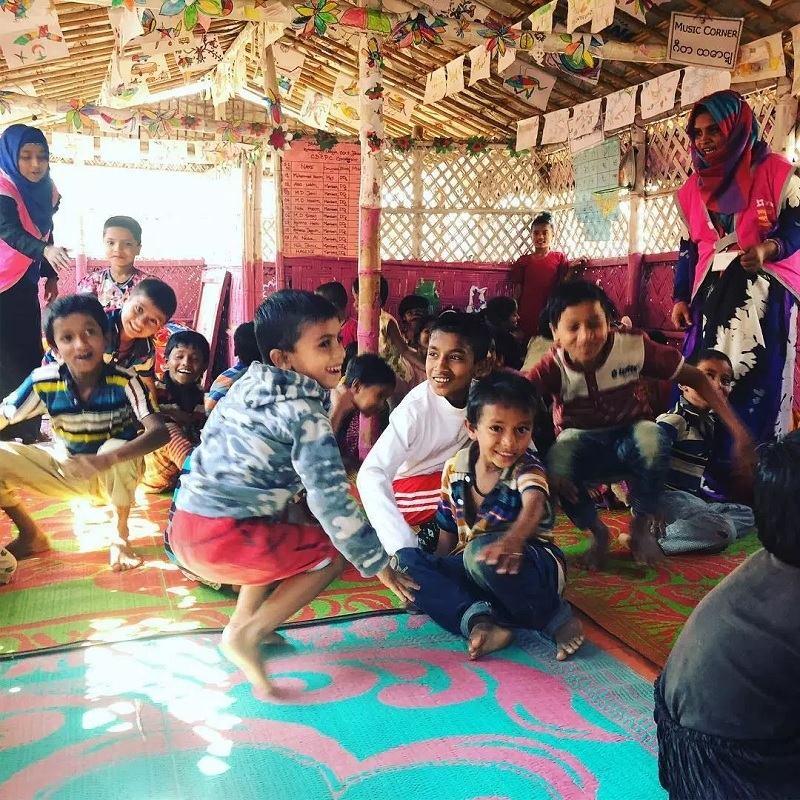 """""""I try to take their pain away through play"""": A healing experiment in Rohingya refugee camps"""