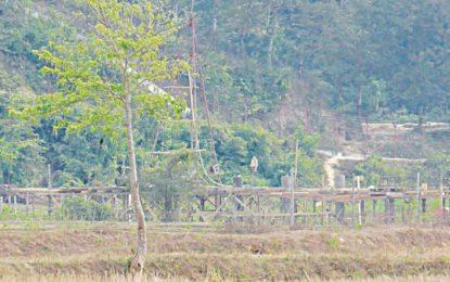 No-Man's Land: Myanmar building concrete structure