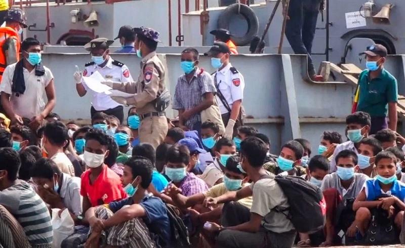 Hundreds of Rohingya refugees stuck at sea, say rights groups