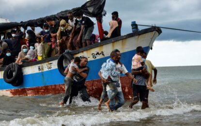 Nearly 100 Rohingya rescued off Indonesia