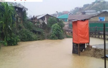 Monsoon Heavy Rain and Flood Hinder the Daily Life of the Rohingya Refugees.