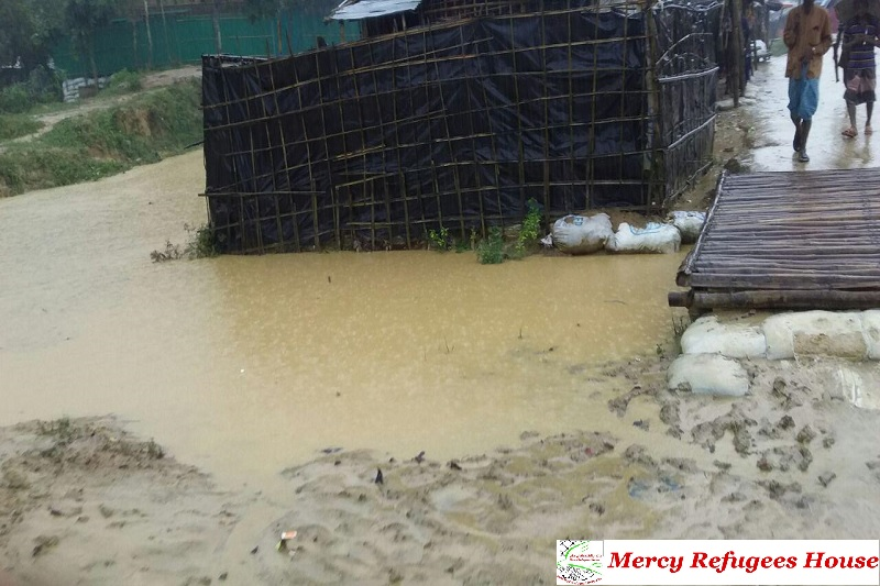 All Drains and Streams Around and Inside the Rohingya Refugee Camps Overflow – Reports a Refugee from Kutupalong.