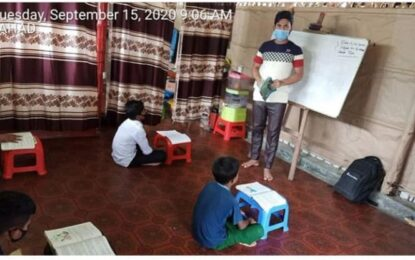 AllMercy Teachers Are Conducting Classes Maintaining Social Distancing, Health Issues and Sanitation Having Only Four Students At A Time