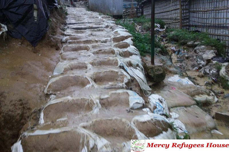 Rain Again Started While Open Drains in the Rohingya Refugees Camps are Unhealthy and Polluting the Environment.