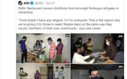 Free food served to Rohingya refugees draws mixed reactions in Delhi