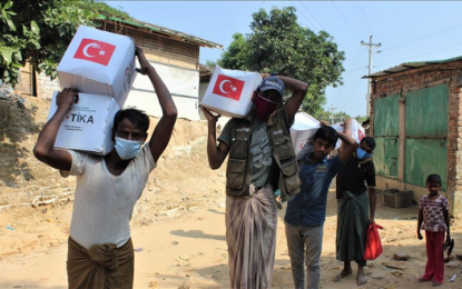 TIKA distributes food items to Rohingya refugees