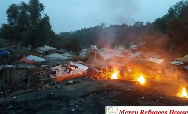 Massive Fire Hits Rohingya Refugee Camp Destroying Many Houses