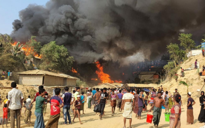 At least 11 dead as massive fire destroys thousands of homes in Bangladesh Rohingya refugee camps