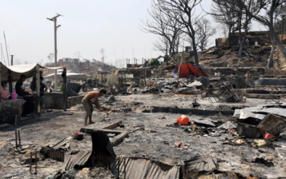 'We have nothing': Refugee camp fire devastates Rohingya, again
