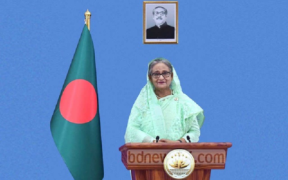 Hasina calls for 'safe return' of Rohingya to Myanmar, cites security threat