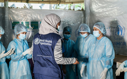 Rohingya refugees receive first COVID vaccinations in Bangladesh
